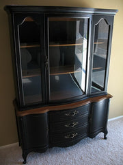 copy the look of this painted hutch with Beckley Coal by CeCe Caldwell's Chalk + Clay Paints