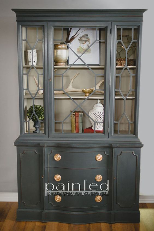 Cabinet Painted Graphite by Annie Sloan Chalk Paint