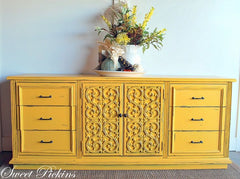 get this painted furniture look with Carolina Sun Yellow by CeCe Caldwell's Paints