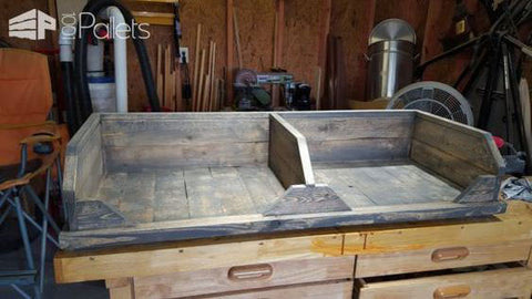 double dog bed to be stained with beechnut gray stain & finish by cece caldwell's