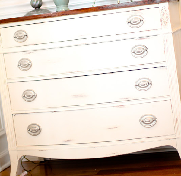 Dresser inspiration for hickory stain and vintage white by CCCP