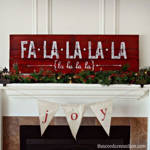 paint a fa-la-la-la-la sign for holiday decor with cece's paints from vintage bette
