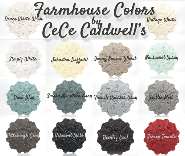 see cece caldwell's farmhouse palette for painted furniture projects from vintage bette