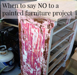 when to say no to a painted furniture project by vintage bette cece caldwell's paints retailer
