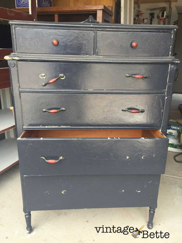 restyle a free vintage dresser into a show-stopping piece of decor with paint
