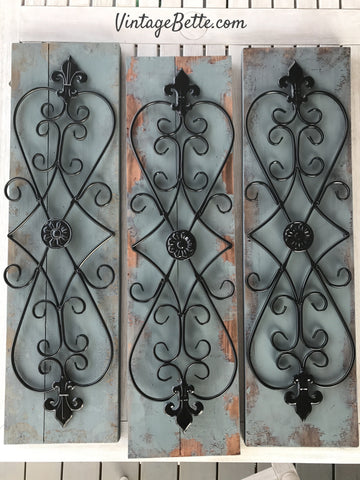 Repurposed clearance decor with CeCe Caldwell's Chalk + Clay Paints in Smoky Mountain