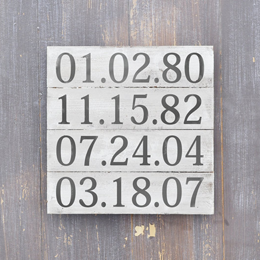 important dates sign handpainted by wavy navy on easy