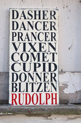 Reindeer sign for Christmas by Heather Paper Crafts on Etsy was inspiration for a DIY