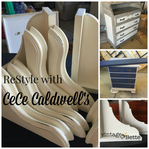Restyle with CeCe Caldwell's Chalk + Clay Paints by VintageBette.com in Colorado Springs