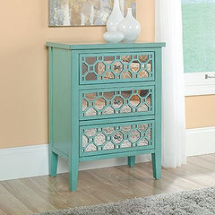 try CeCe Caldwell's Paints sante fe turquoise to get this look from sauder on your furniture project
