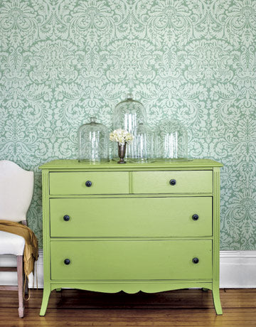 try spring hill green by cece Caldwell's paints for this look for your painted furniture project