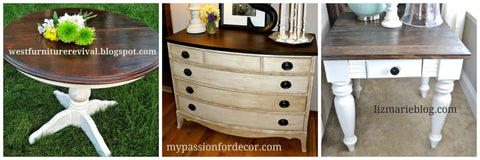 projects restyled using stain and paint