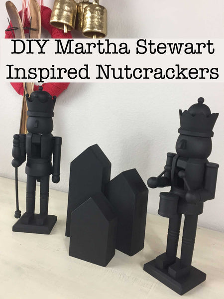 DIY Martha Stewart Inspired Chalkboard Nutcrackers by Vintage Bette