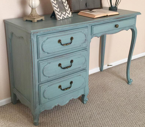 adorable desk painted duck blue by cece caldwell's by urban farmhouse co