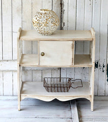 sideboard painted white could be a vintage white project with CeCe Caldwell's Paints