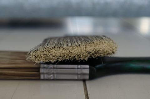 Short Handle Synthetic Angle Brush