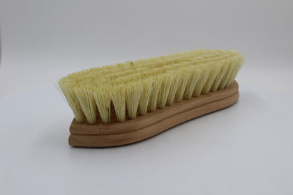Wax Buffing Brush--Curved Handle
