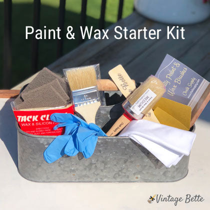 Paint and Wax Starter Kit (Natural Bristles)