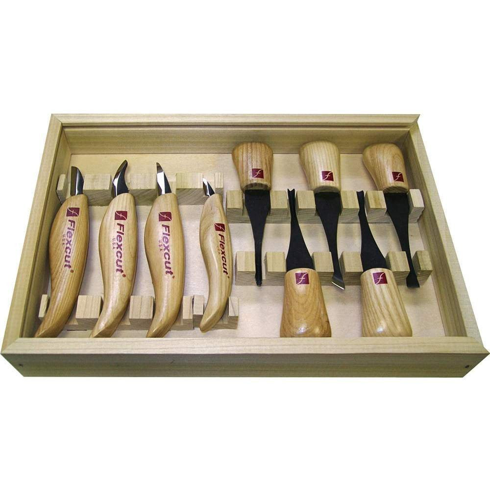 Palm Tool and Knife Set-Flexcut Deluxe Wood Carvers
