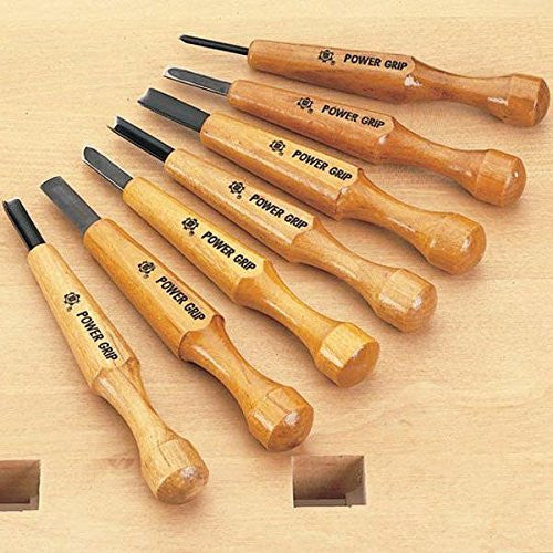 Seven Piece Set, Power Grip Carving Tools