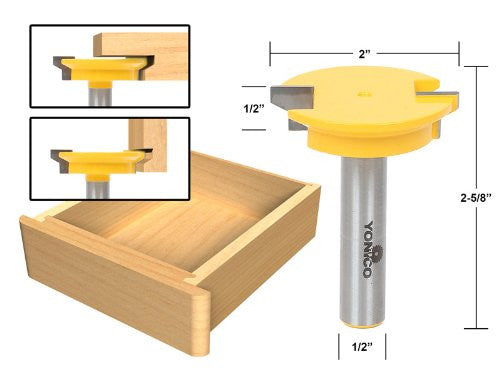 Reversible 1/2-Inch Shank With Yonico 15133 Drawer Front Joint Router Bit