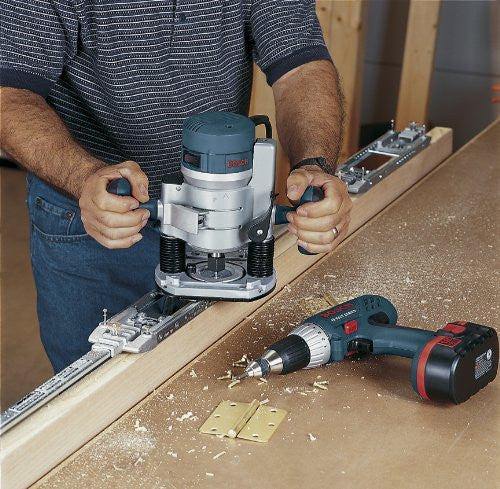 Base Variable Speed Router Kit with 1/4-Inch and 1/2-Inch Collets Bosch 1617EVSPK 12 Amp 2-1/4-Horsepower Plunge and Fixed