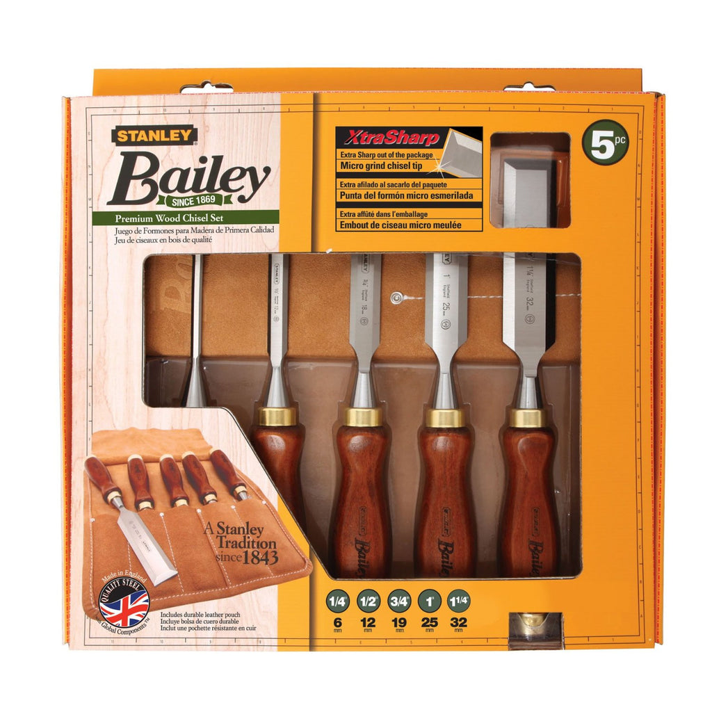 5-Piece, Stanley 16-401 Bailey Chisel Set