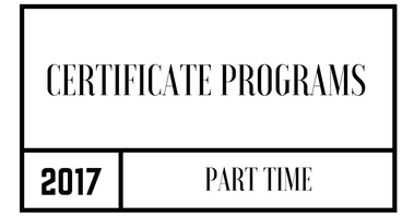 Part Time Certificate Programs