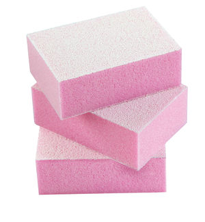 Mini Disposable Buffing Blocks Pink