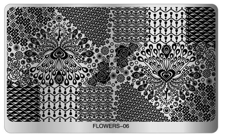 Floral Stamping Plate (flower 06) Large