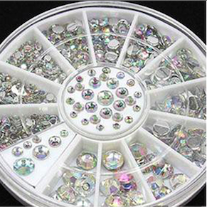 Clear Rhinestone wheel