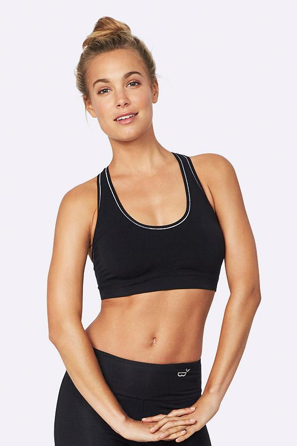 Boody Organic Eco Wear Women's Racerback Sports Bra Black