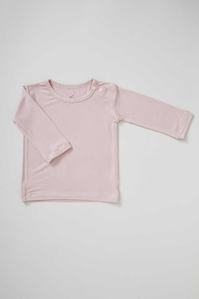 Pink Baby Long Sleeve Top - Boody Baby Organic Bamboo Eco Wear