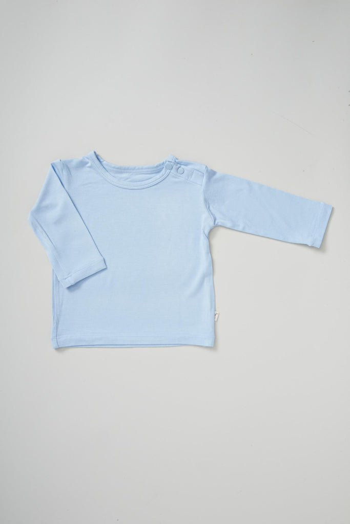 Blue Baby Long Sleeve Top - Boody Baby Organic Bamboo Eco Wear