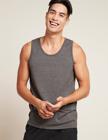 Boody Organic Bamboo Eco Wear - Men's Singlet Dark Marl