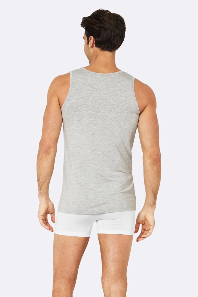 Boody Organic Bamboo Eco Wear - Men's Singlet Grey