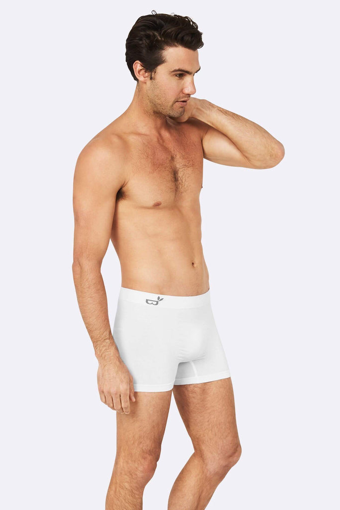 Boody Organic Bamboo Eco Wear Men's Boxers White