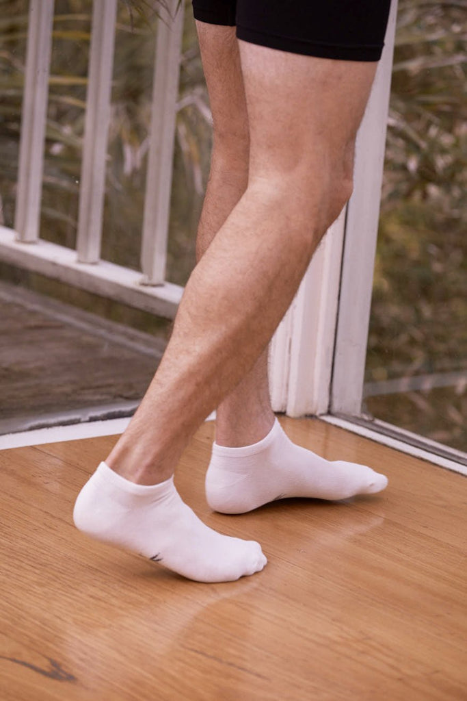 Boody Organic Eco Wear Men's Low Cut Socks - White