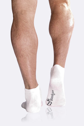 Boody Organic Bamboo Eco Wear Men's White Sport Socks - White