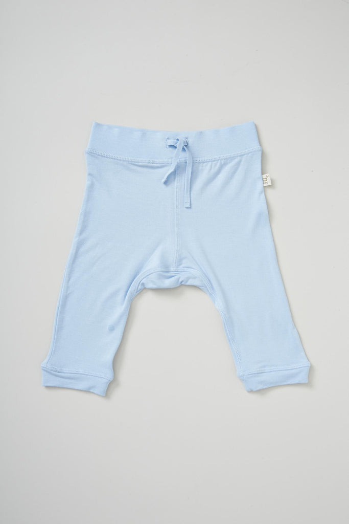 Baby Pull on Pants Blue - Organic Bamboo Eco Wear