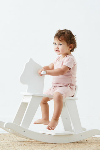 Baby Pull on Shorts Pink - Organic Bamboo Eco Wear