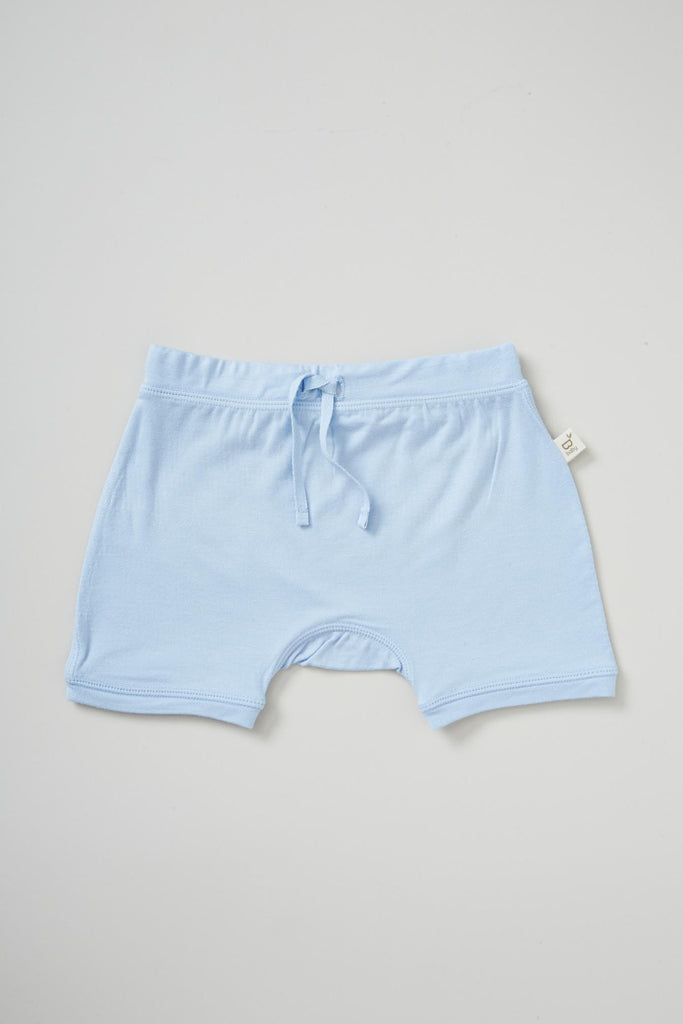 Baby Pull on Shorts Blue- Organic Bamboo Eco Wear