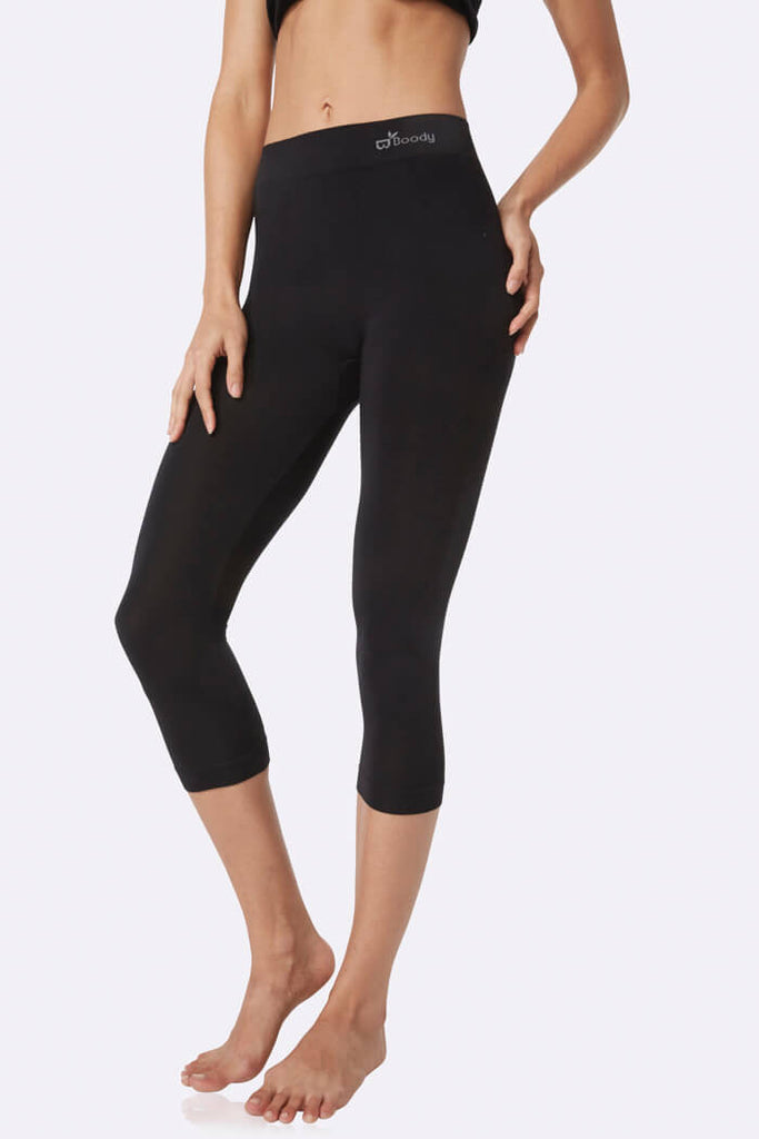3/4 Black Leggings - Boody Organic Bamboo Eco Wear