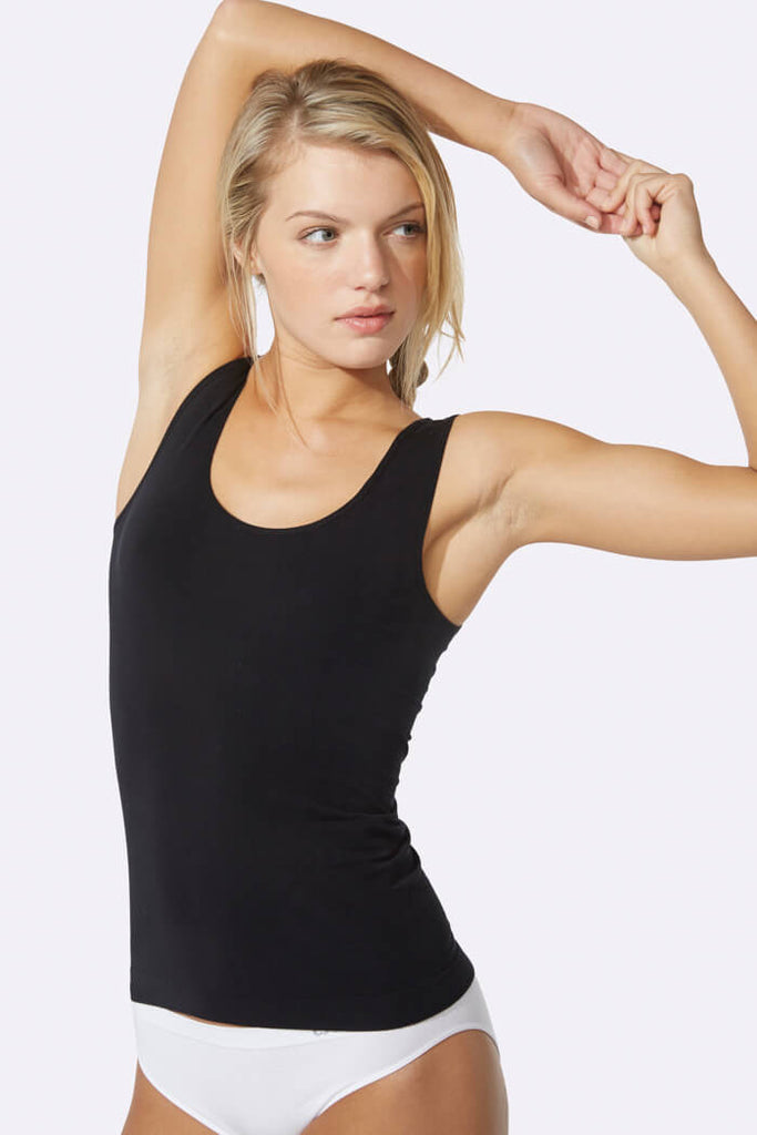 Women's Tank Top Black - Boody Organic Bamboo Eco Wear