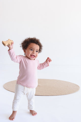 Baby Pull on Pants Pink - Organic Bamboo Eco Wear