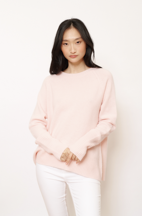 Alessandra Chunky Fifi Crew Neck Cashmere Sweater - Ballet