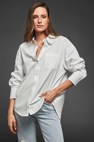 Anine Bing Mika Shirt - White