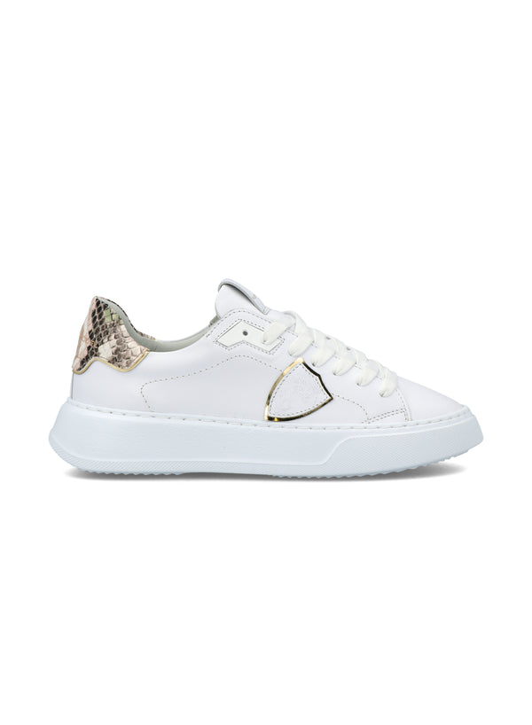 Philippe Model Temple Low - Veau Animalier Blanc Vert (PRE ORDER)