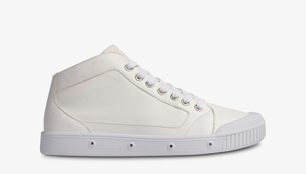 Spring Court Lambskin Leather Sneaker - White