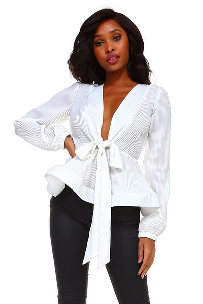 Ivy Beauty V Neck Blouse
